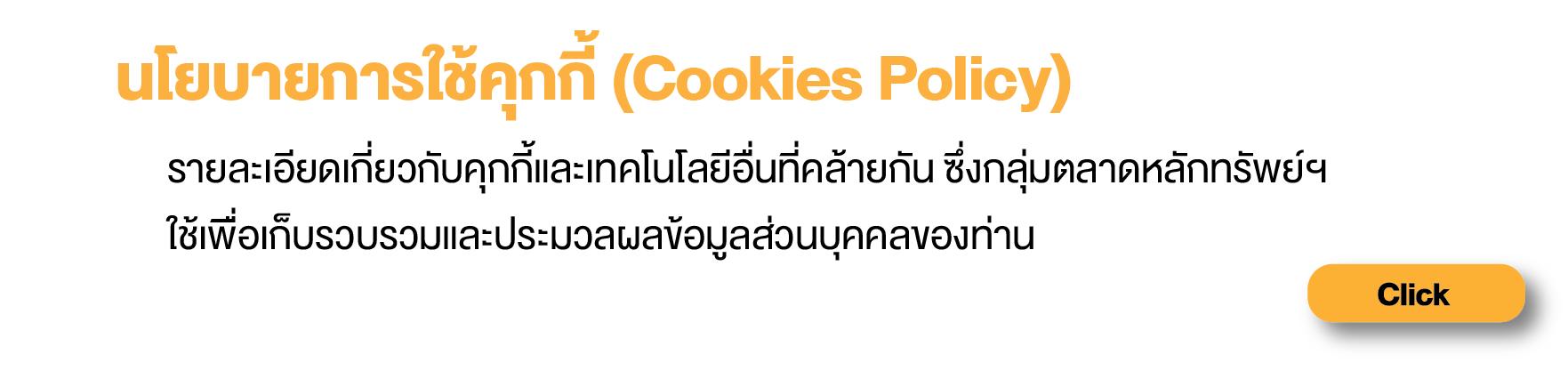 นโยบายการใช้คุกกี้ (Cookies Policy)