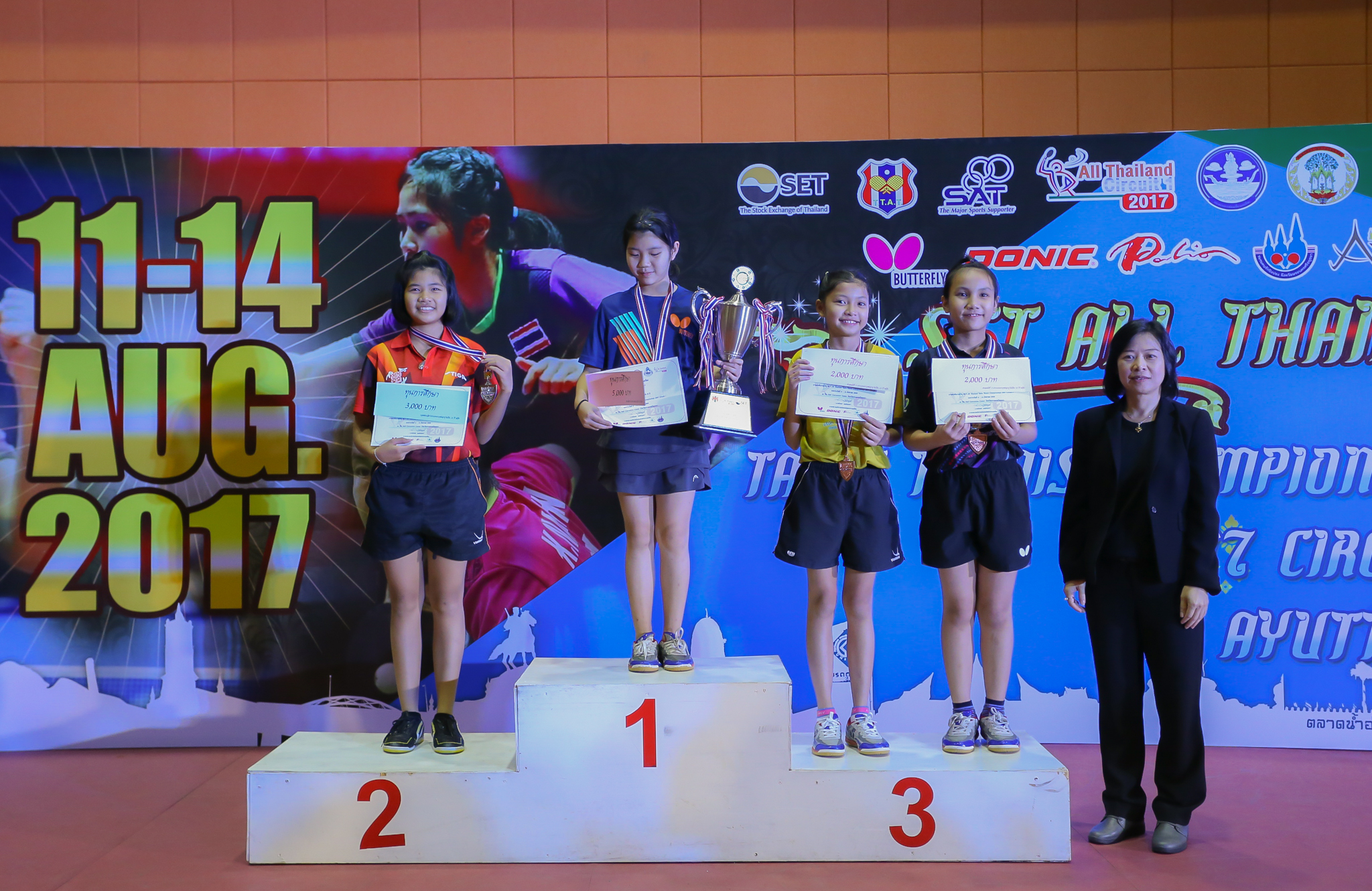 SET All Thailand Table Tennis Championships 2017 Circuit 1